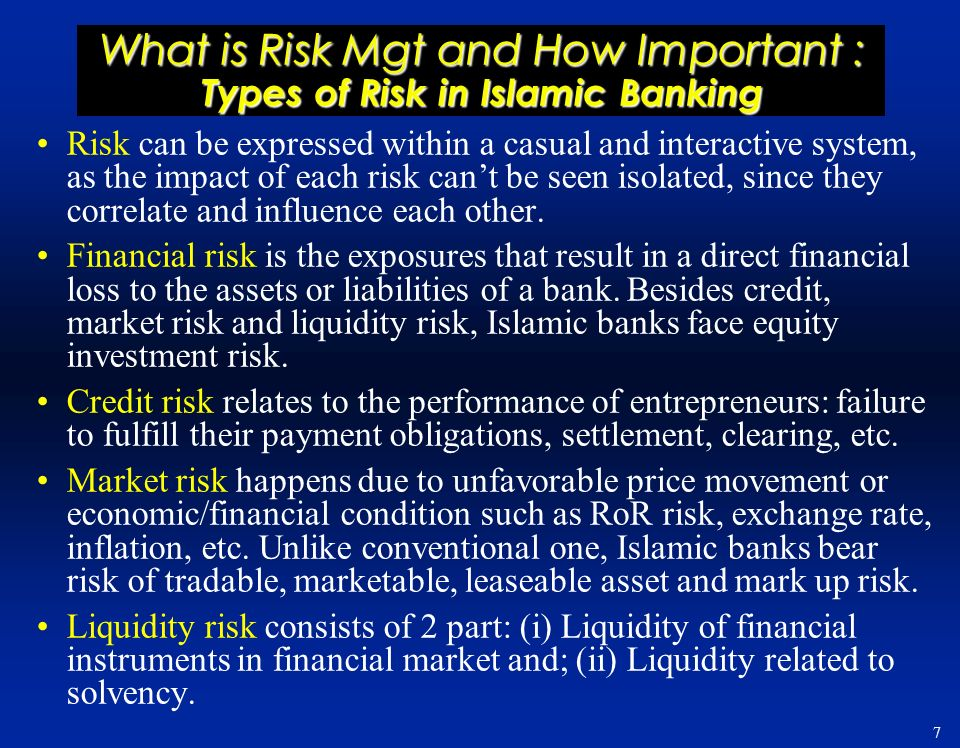 importance of risk financing