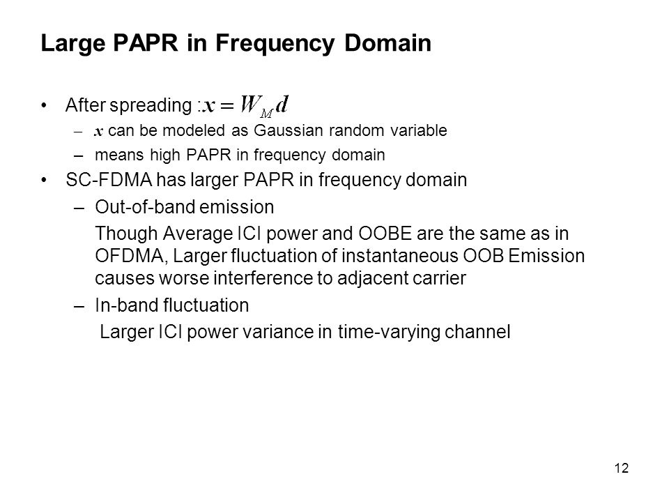 Large PAPR in Frequency Domain