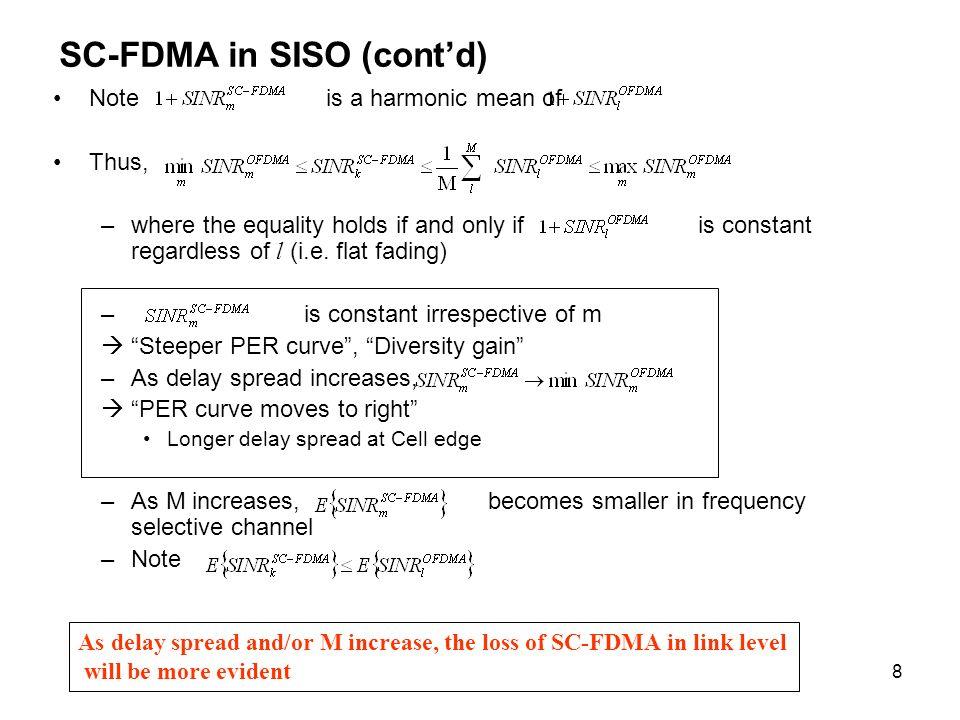 SC-FDMA in SISO (cont'd)