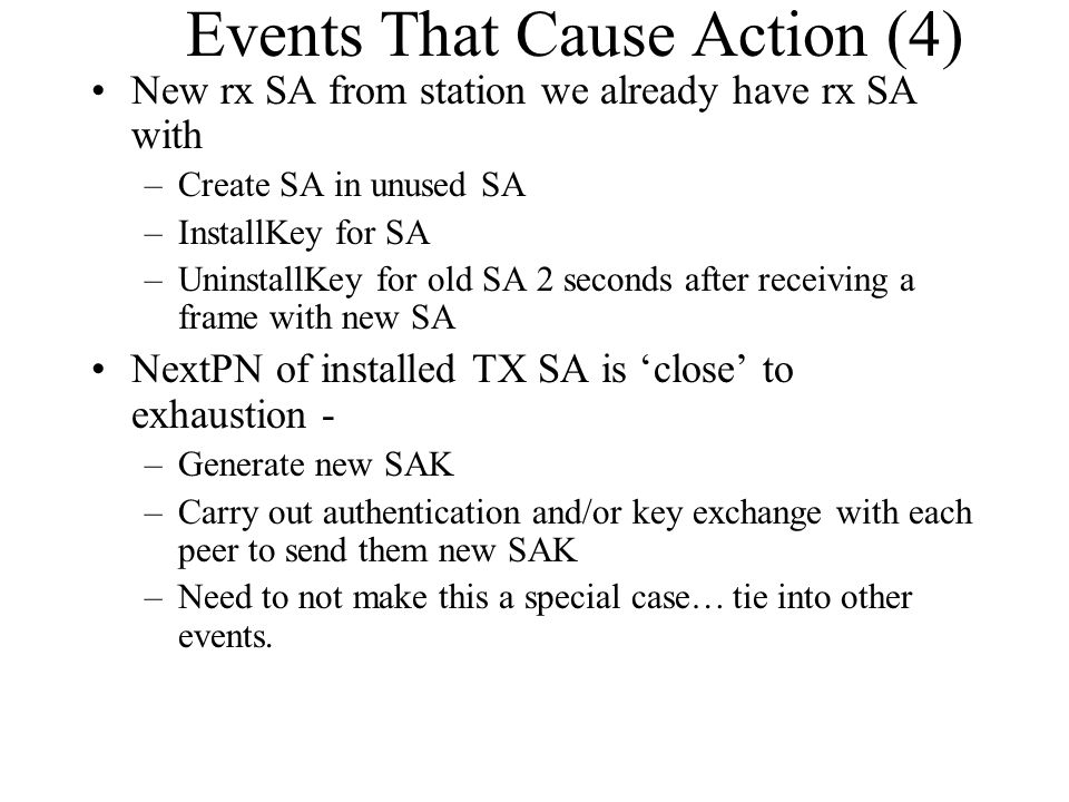 Events That Cause Action (4)