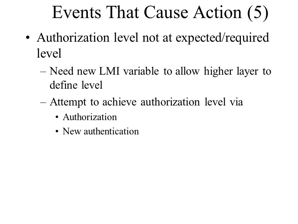 Events That Cause Action (5)