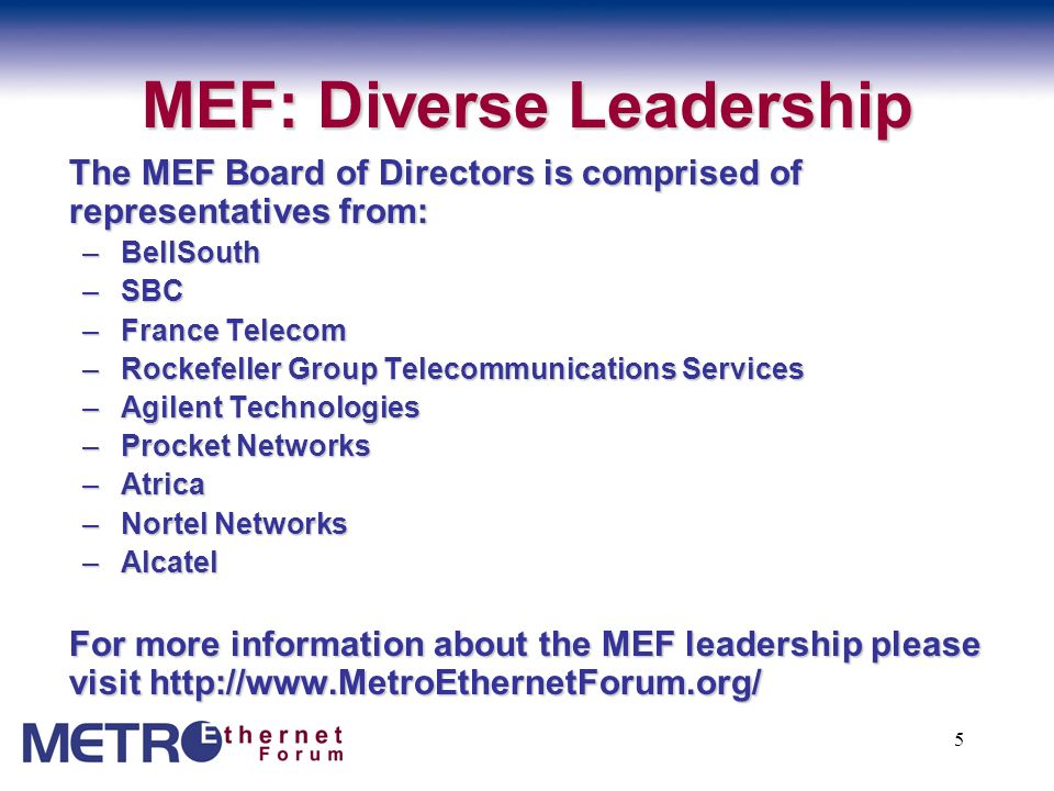 MEF: Diverse Leadership