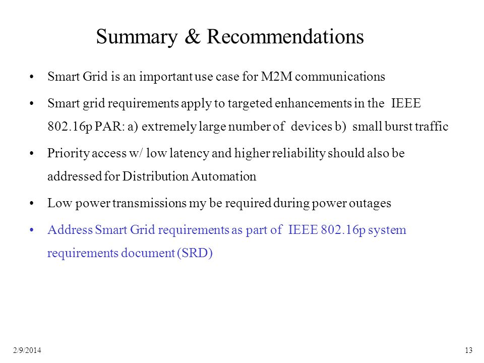 Summary & Recommendations