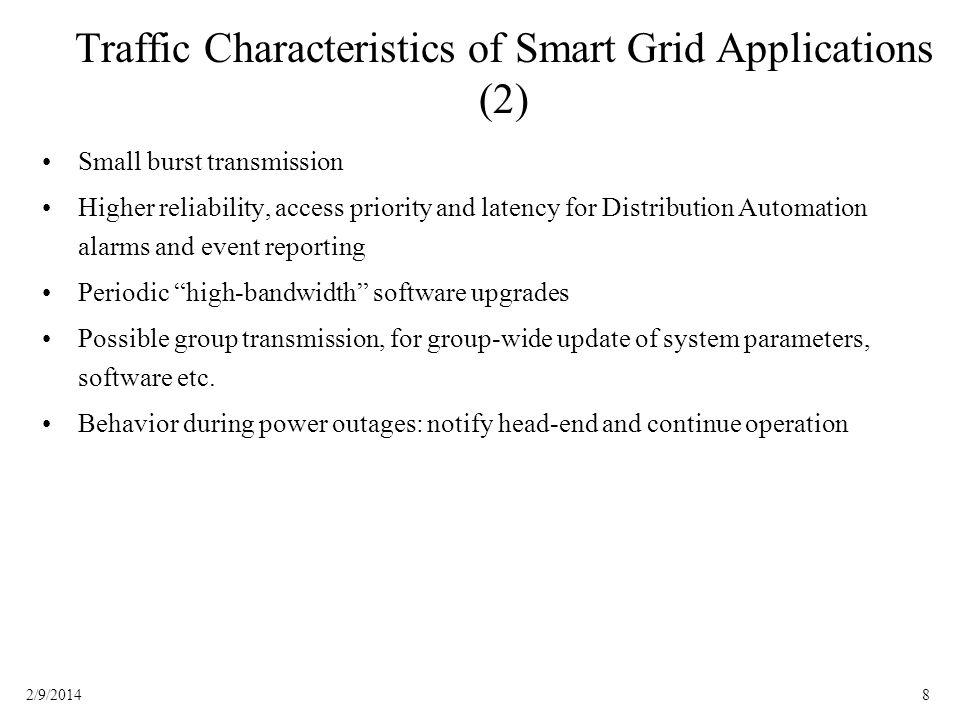 Traffic Characteristics of Smart Grid Applications (2)