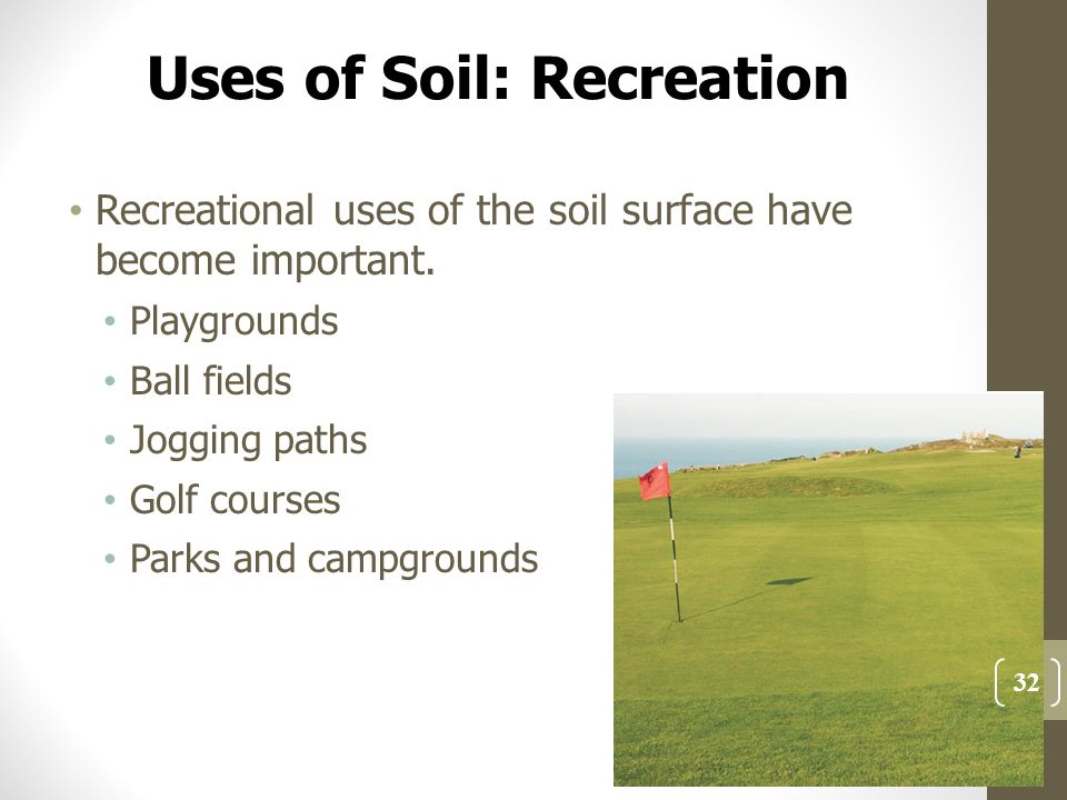 Challenge turf for Three uses of soil