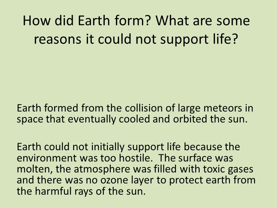 how earth supports life essay Short essay on 'atmosphere' (200 words) friday, april 26, 2013 the atmosphere is a transparent envelope of gases and suspended particles that surround the earth.