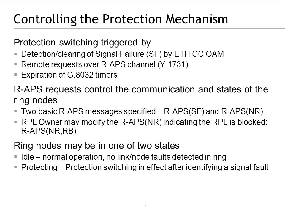 Controlling the Protection Mechanism