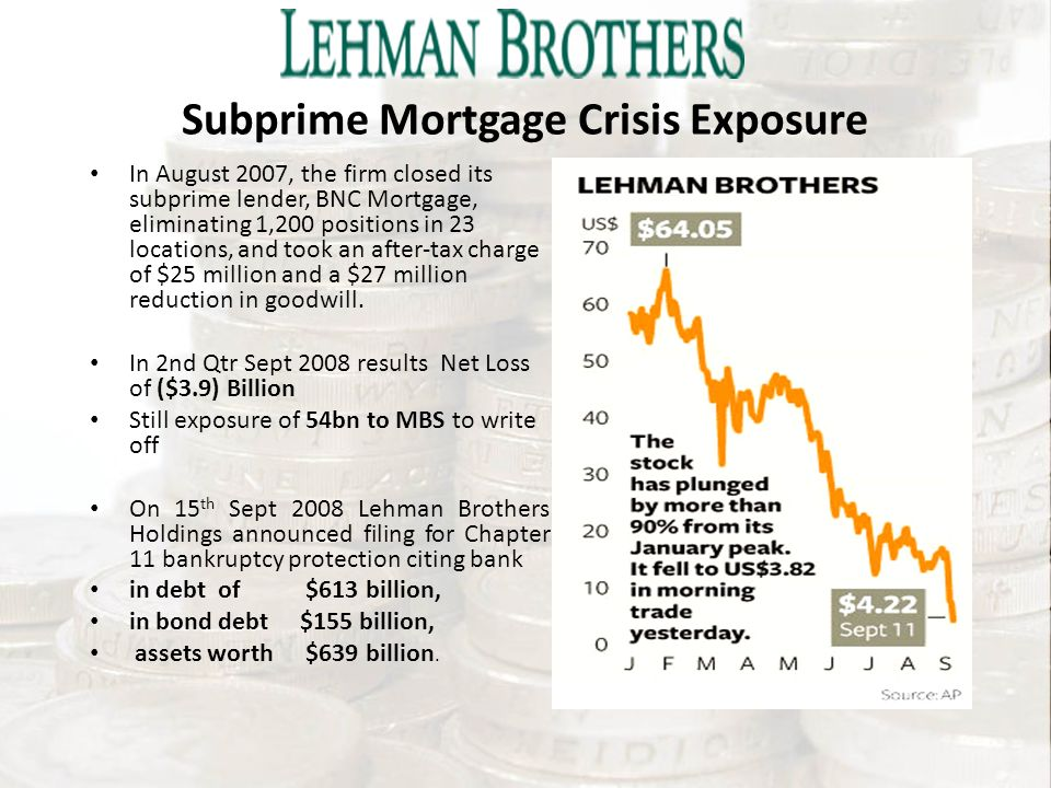 lehman brothers subprime crisis 1 economic crisis, financial crisis or credit crisis when the 2007-08 financial crisis is first reported in china, i was a graduate student who is.