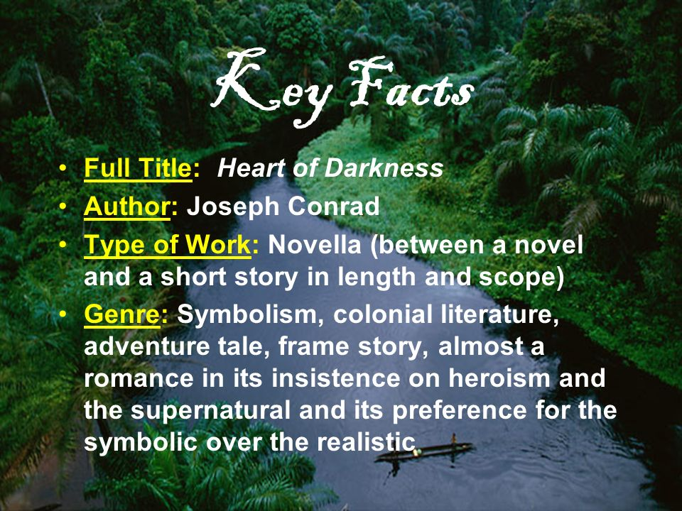personification darkness comparison joseph conrad s heart In this lesson, the portrayal of evil in joseph conrad's ~'heart of darkness~' will  be  this is personified in the character of kurtz, one of the company's agents.