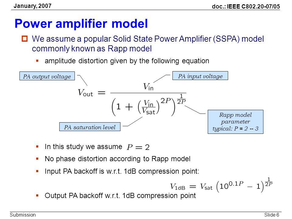 Rapp model parameter typical: P = 2 -- 3