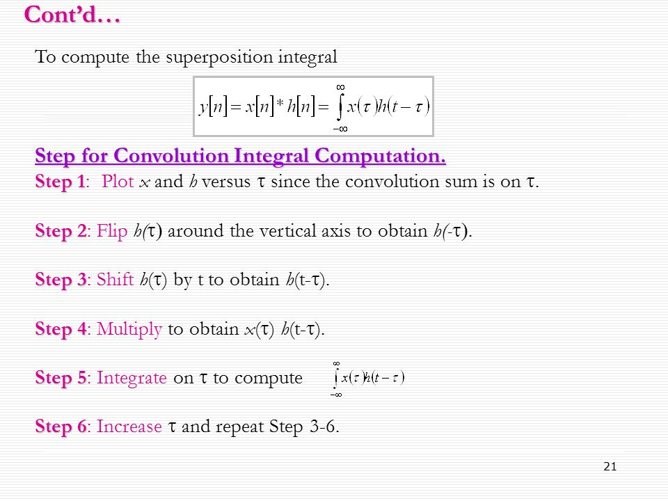 convolution sum and convolution integral pdf