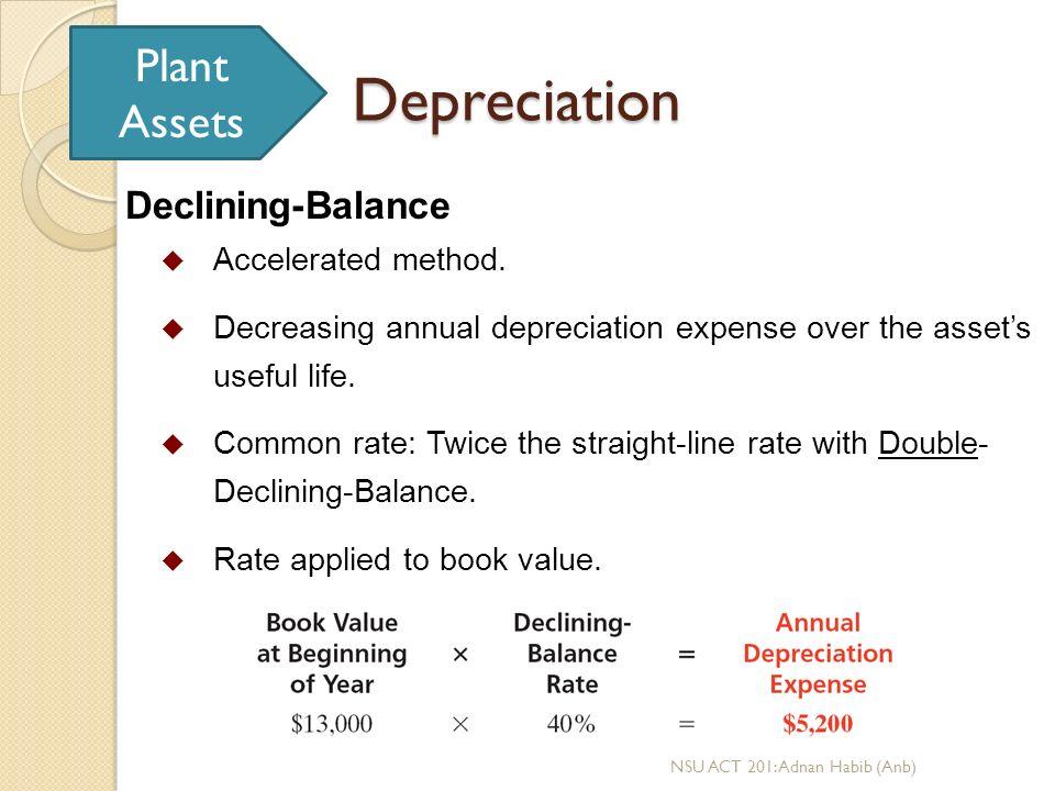 declining balance depreciation