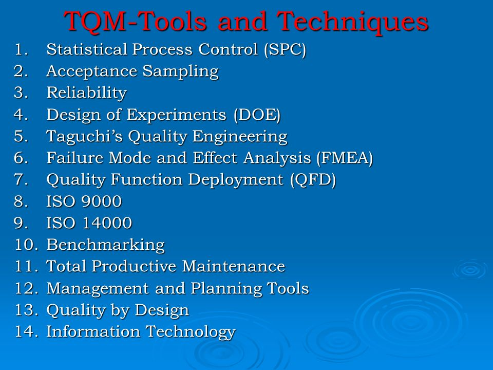 tools and techniques for quality planning information technology essay Risk analysis and risk management  however, it's an essential planning tool, and one that could save time, money, and reputations  tools such as swot analysis .