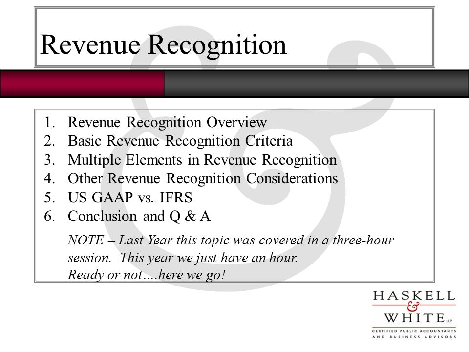 revenue recognition theories of accounting The revenue recognition principle states that revenue should be recognized and recorded when it is realized or realizable and when it is earned.