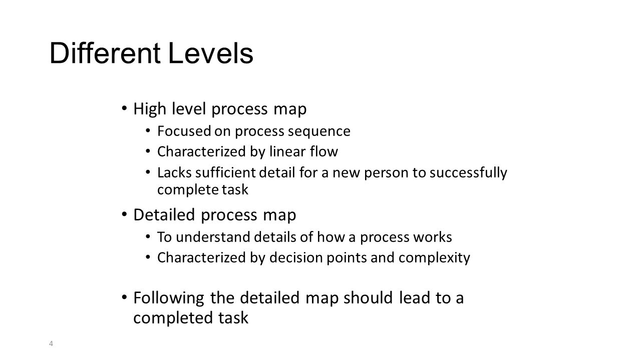 Detailed process mapping ppt video online download different levels high level process map detailed process map biocorpaavc