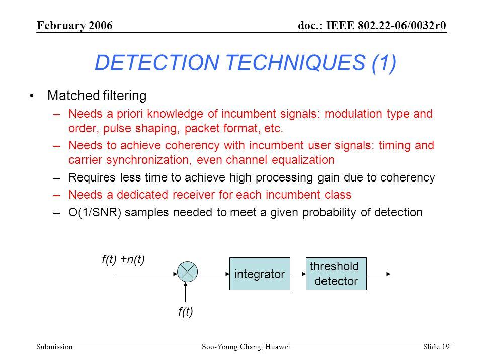 DETECTION TECHNIQUES (1)