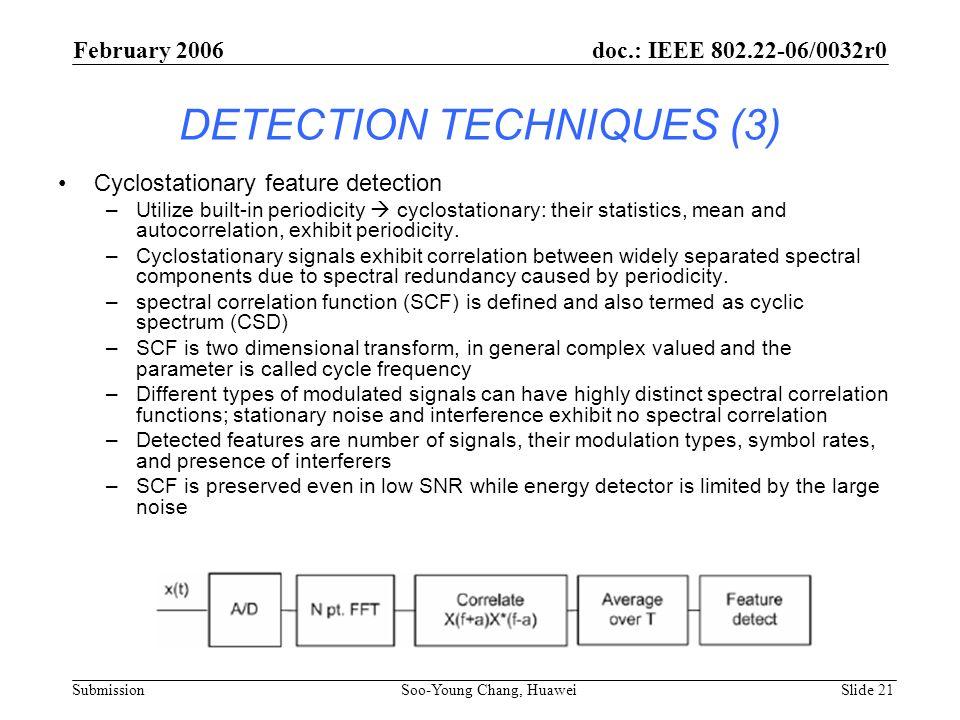 DETECTION TECHNIQUES (3)
