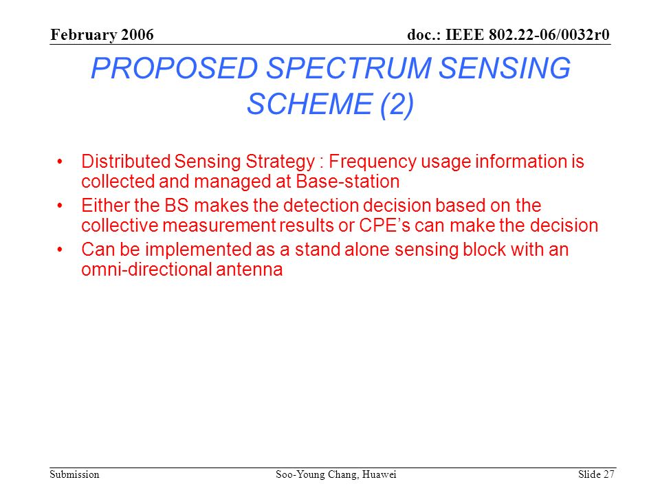 PROPOSED SPECTRUM SENSING SCHEME (2)