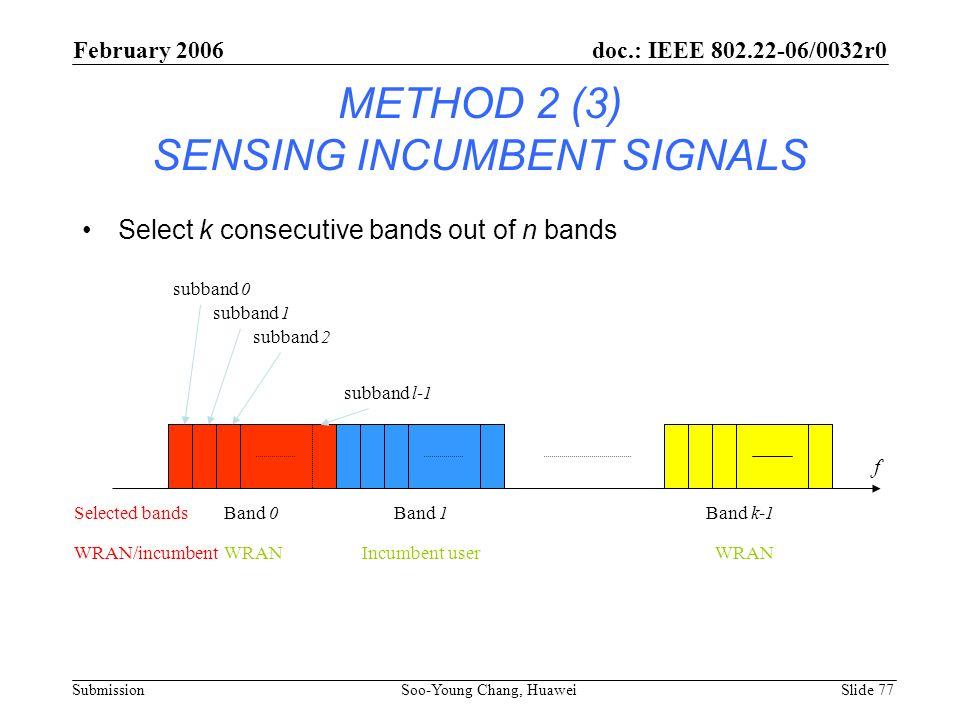 METHOD 2 (3) SENSING INCUMBENT SIGNALS