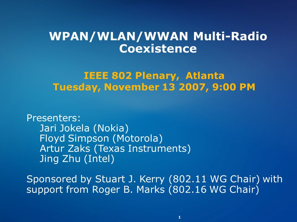 WPAN/WLAN/WWAN Multi-Radio Coexistence