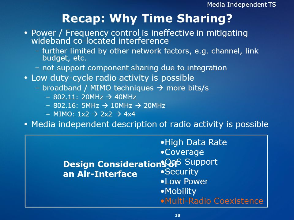 Recap: Why Time Sharing
