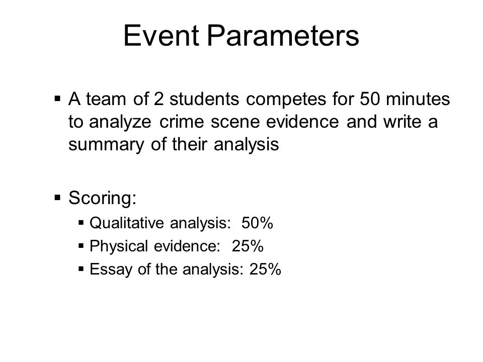 crime writing and students Students investigate a mock crime  students as crime science investigators when students entered the classroom on day one of the  writing (my note said, i.