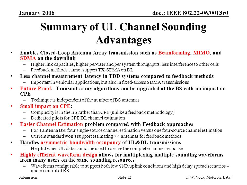 Summary of UL Channel Sounding Advantages