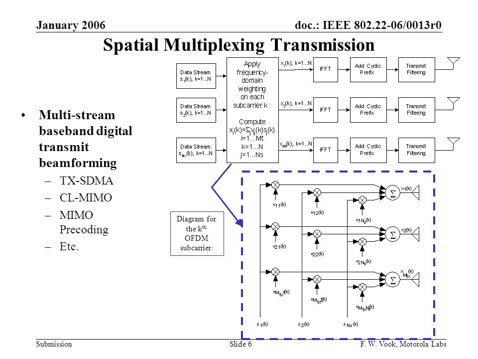 Spatial Multiplexing Transmission