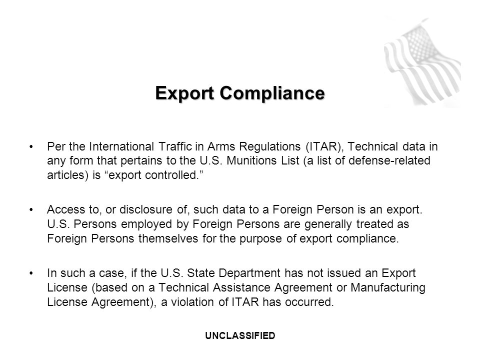 This briefing is unclassified ppt download 31 export compliance platinumwayz