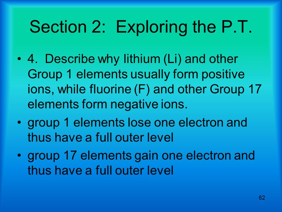 Chapter 5 The Periodic Table. - ppt download