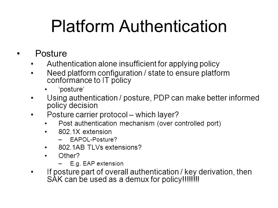 Platform Authentication