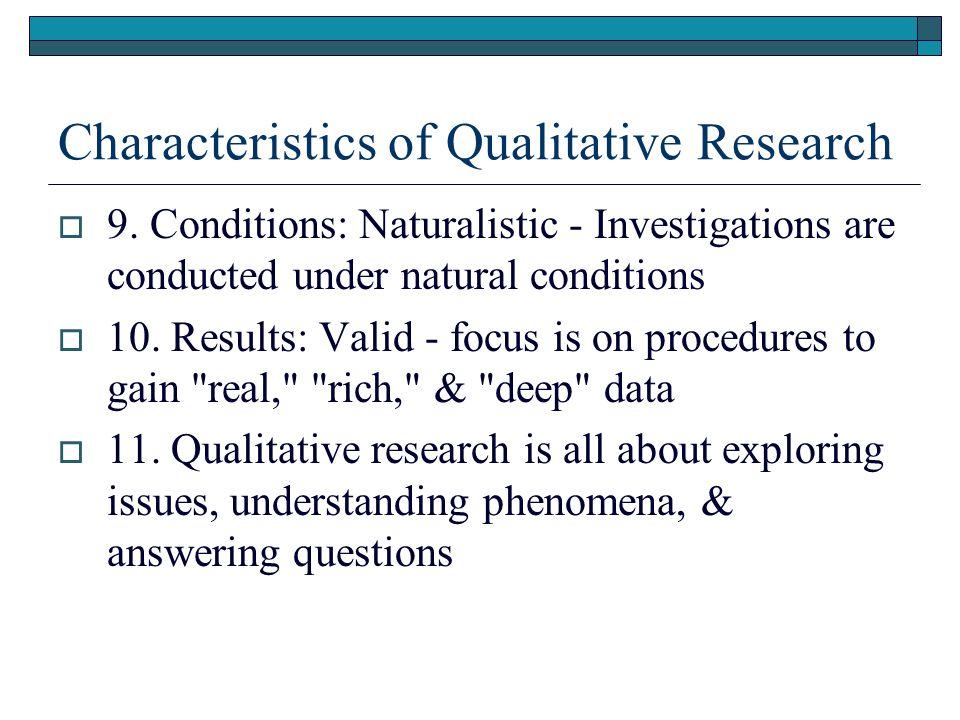 characteristics of quantitative research design
