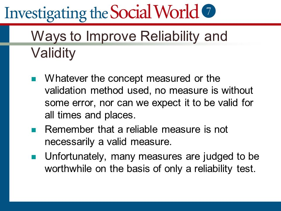 can crime measured valid reliable way Like reliability and validity as used in quantitative research are providing springboard to examine what these two terms mean in the qualitative research paradigm, triangulation as used in quantitative research to test the reliability and validity can also illuminate some ways to test or maximize the validity and reliability of a qualitative study.