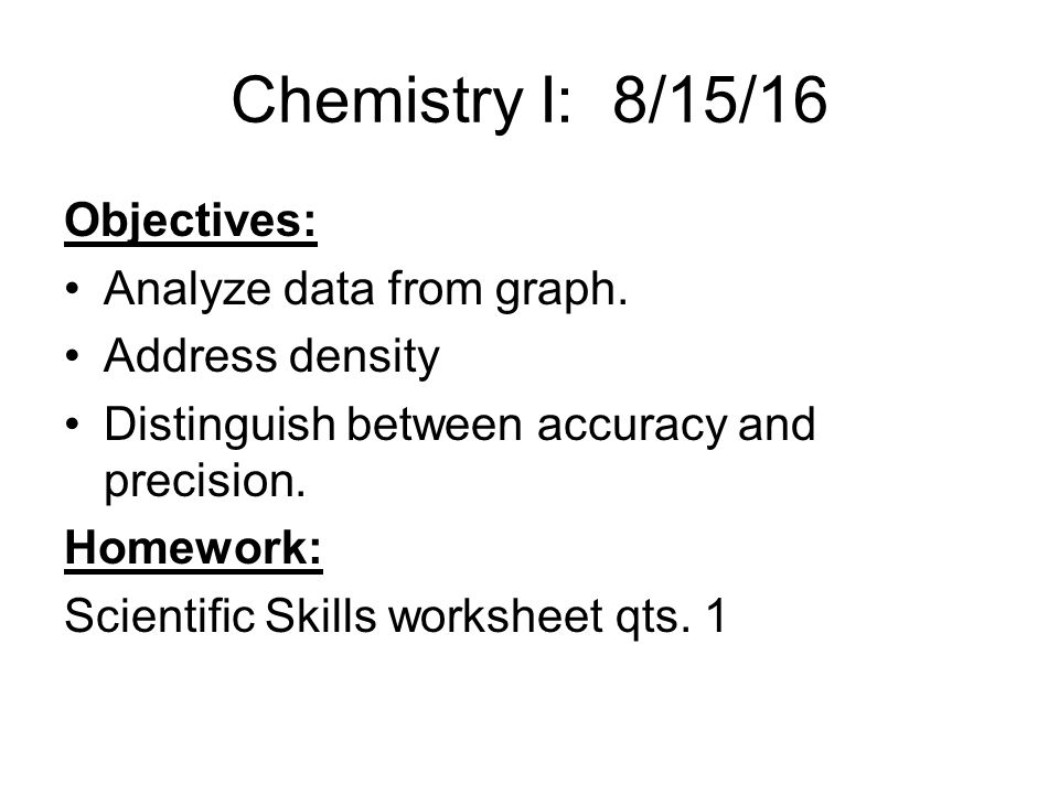 Chemistry I 81213 Objectives Turn lab safety illustration in – Analyzing Data Worksheet