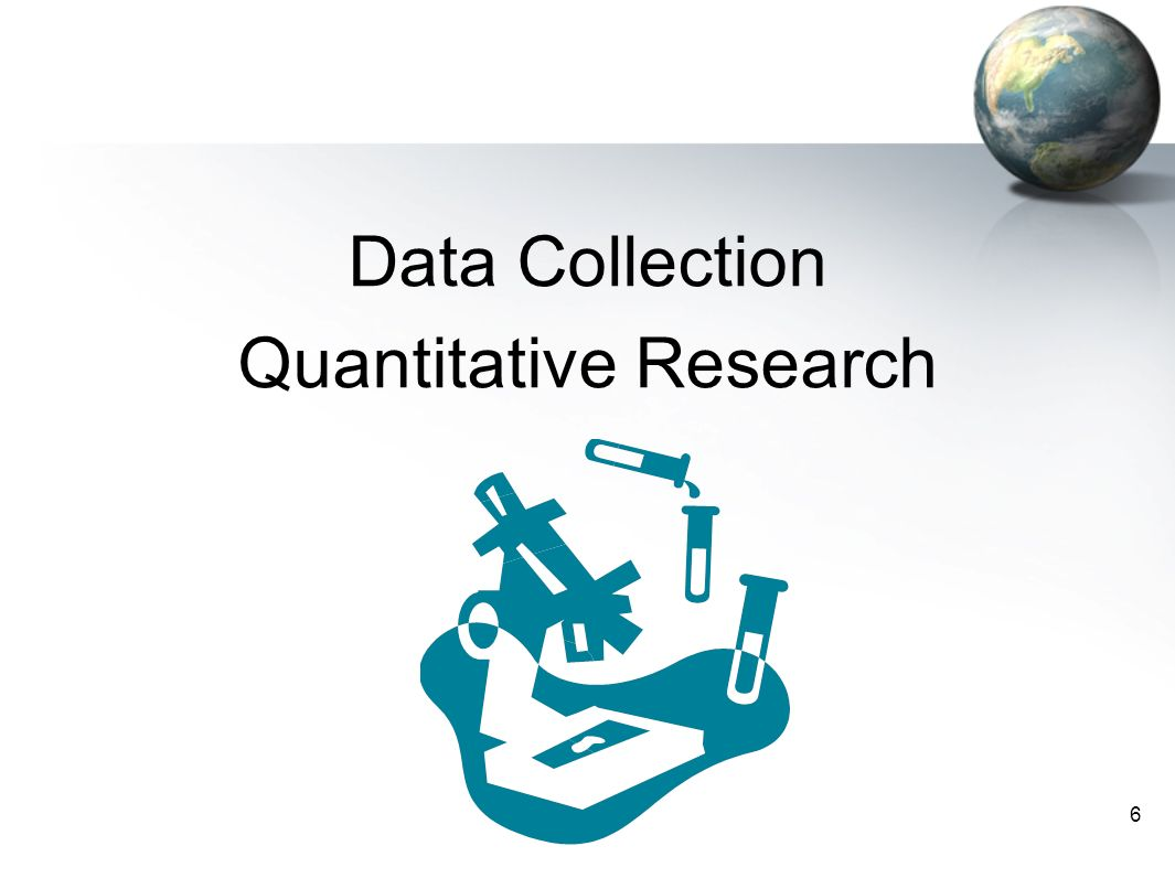 quantitative research data collection You are here: my-peer toolkit » evaluation » data collection methods data collection methods combining both qualitative and quantitative research data.