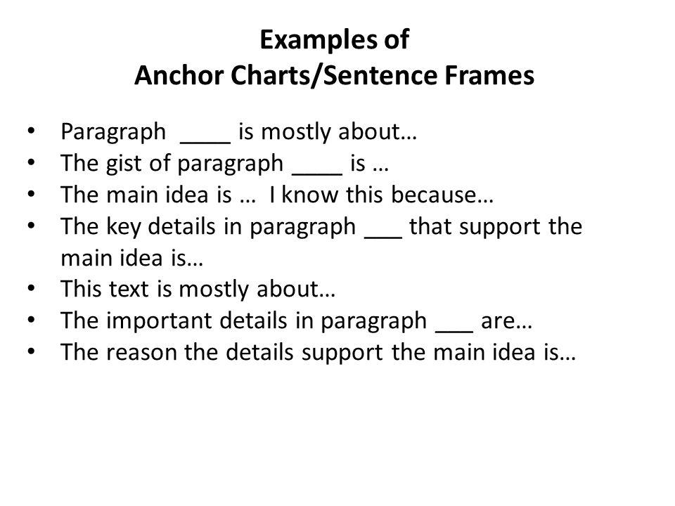 Perfect Sentence Frames Examples Gift - Frames Ideas - ellisras.info