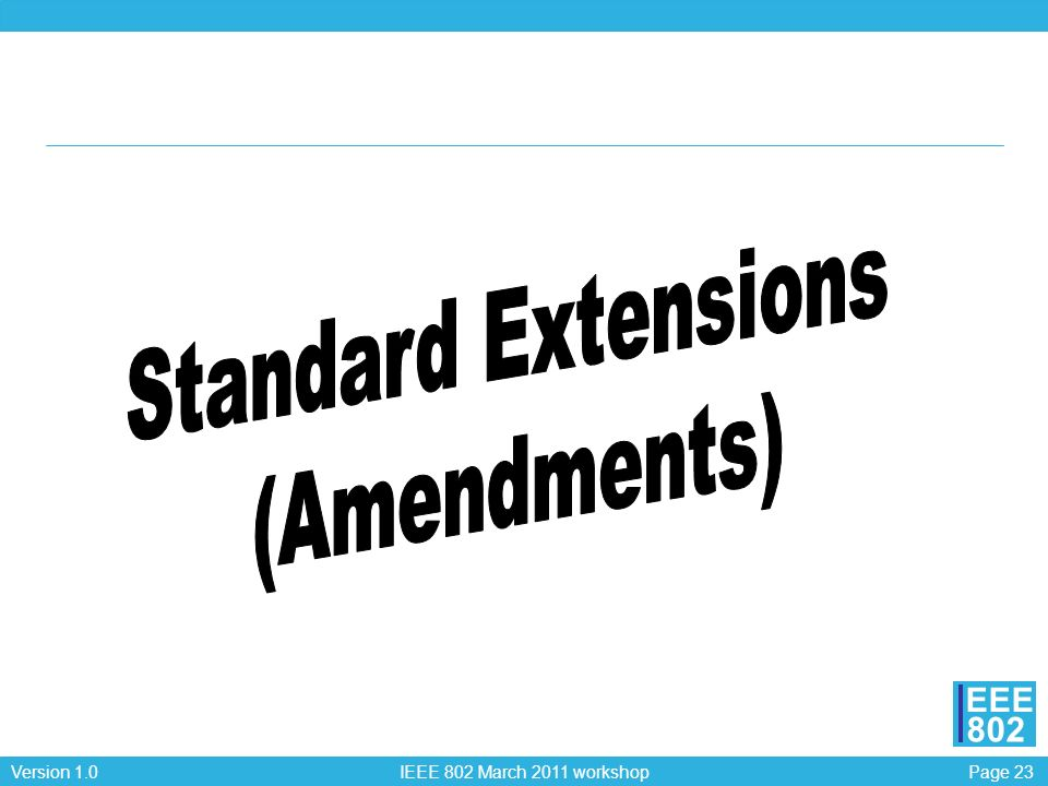Standard Extensions (Amendments)