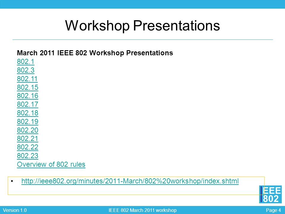 Workshop Presentations