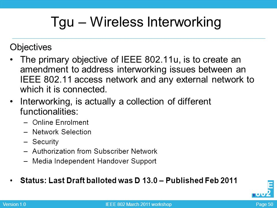 Tgu – Wireless Interworking