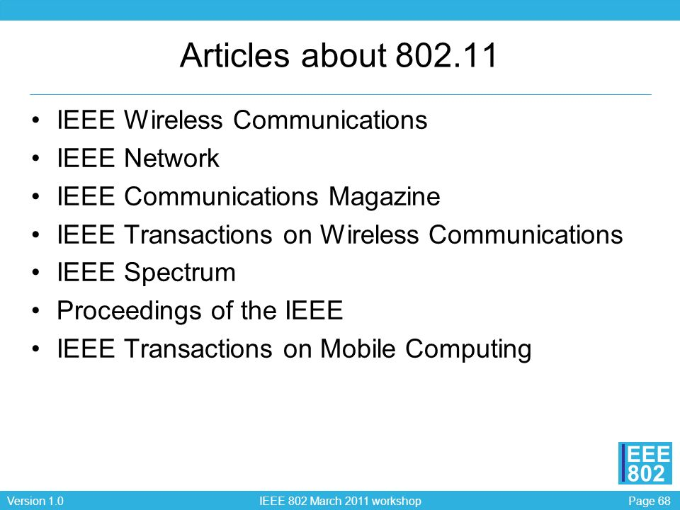Articles about 802.11 IEEE Wireless Communications IEEE Network