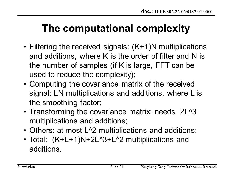 The computational complexity