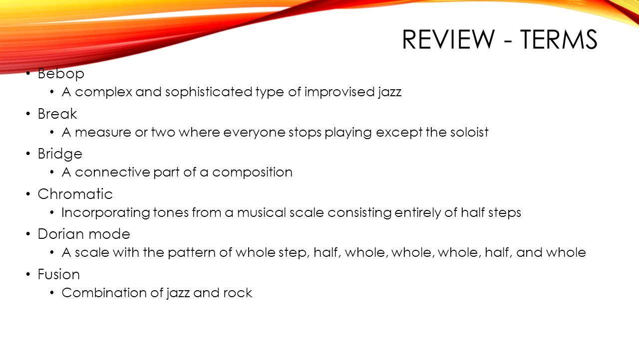 jazz chapter ppt video online  38 review