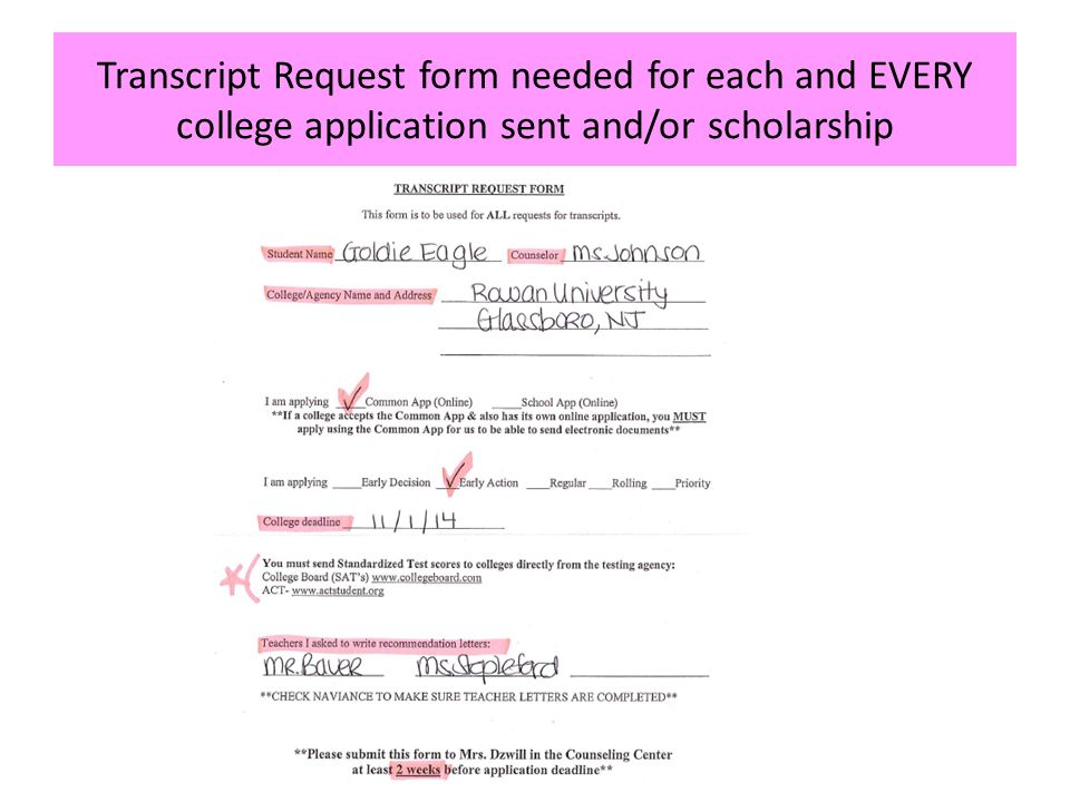 Senior College Application Night - Ppt Download