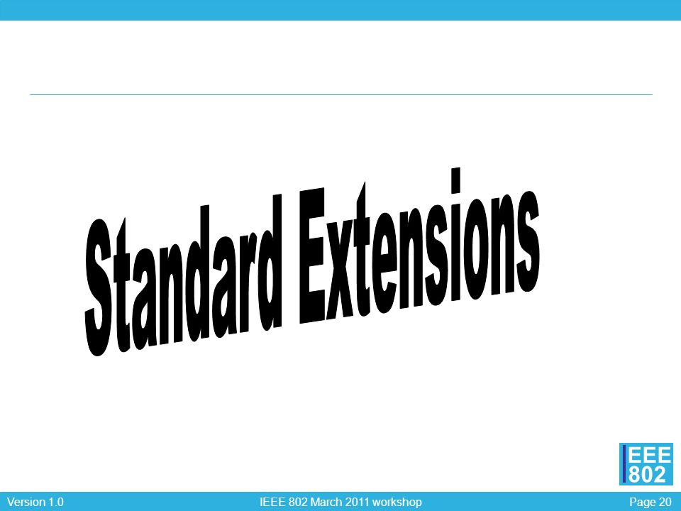 Standard Extensions