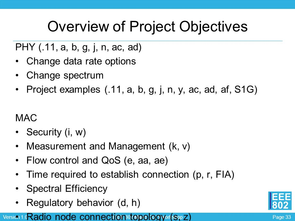 Overview of Project Objectives