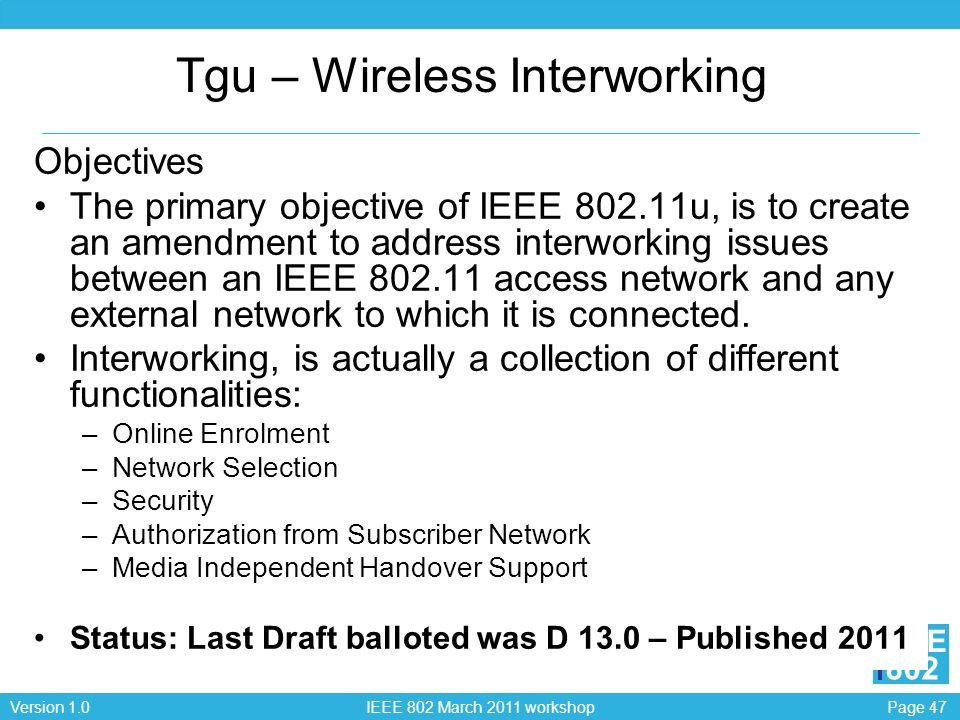 Tgu – Wireless Interworking