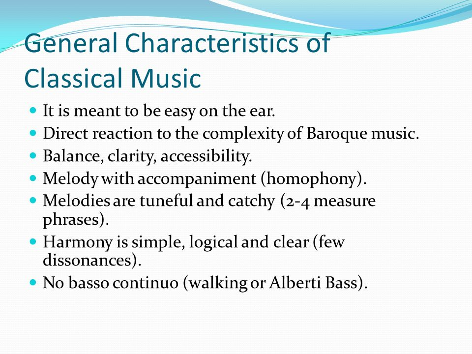 characteristics of classical music pdf