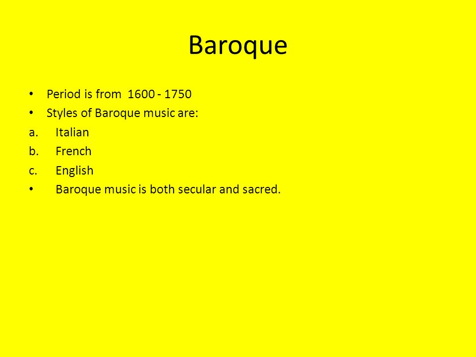 The elements of baroque music ppt video online download for What is the baroque period