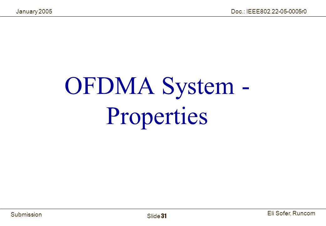 OFDMA System - Properties