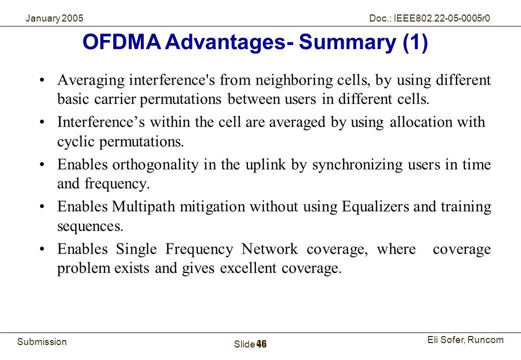OFDMA Advantages- Summary (1)